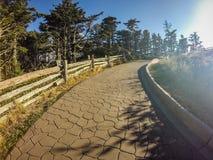 Сценарные взгляды на заходе солнца na górze держателя mitchell стоковая фотография rf