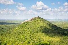 Сценарные зеленой горы долины и чая, Цейлон стоковое фото