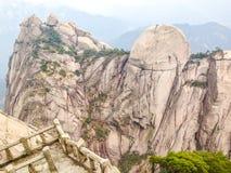 Сценарные пятна в держателе провинция Huangshan, Аньхоя, Китай Стоковая Фотография