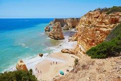 Сценарный ландшафт в Алгарве, Португалии Стоковые Изображения RF