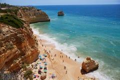 Сценарный ландшафт в Алгарве, Португалии Стоковая Фотография