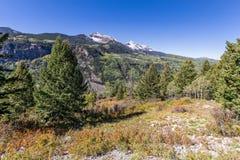 Сценарный ландшафт в осени Стоковая Фотография