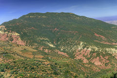 Сценарный ландшафт, горы атласа, Марокко Стоковое Изображение