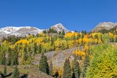 Сценарный ландшафт горы в осени Стоковое фото RF