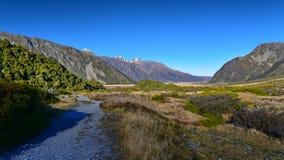 Сценарный ландшафт горы вдоль следа пункта Kea в национальном парке кашевара держателя Aoraki Стоковые Фото