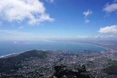 Сценарный ландшафт Кейптауна от горы таблицы Стоковые Фото