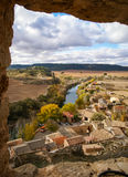 Сценарный ландшафт, Ла Mancha Кастилии, Испания Стоковая Фотография RF