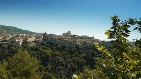 Сценарный ландшафт на Col de Vence в южной Франции видеоматериал