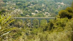 Сценарный ландшафт на sur Loup Tourrettes в южной Франции видеоматериал