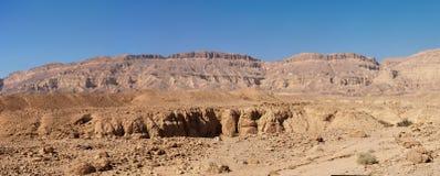 Сценарный ландшафт пустыни в пустыня Негев, Израиле Стоковые Фотографии RF
