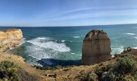 Сценарный взгляд большей дороги океана стоковые изображения rf