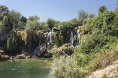 Сценарный взгляд водопадов Kravica Стоковое Изображение