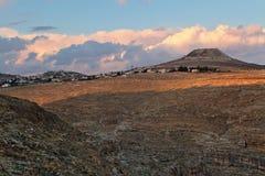 Сценарный взгляд каньона в пустыня Негев Стоковая Фотография RF