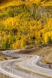 Сценарный взгляд к гористым местностям на byway 12 в Юте, США Стоковые Фото