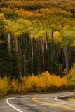 Сценарный взгляд к гористым местностям на byway 12 в Юте, США Стоковая Фотография RF