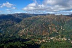 Сценарный взгляд национального парка Peneda Geres стоковая фотография rf