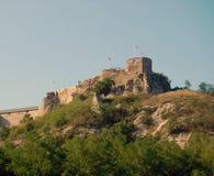 Сценарный взгляд на старых руинах замка Стоковые Фотографии RF
