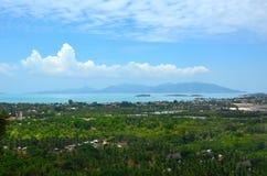 Сценарный взгляд от острова Samui Koh Таиланд Стоковые Изображения RF