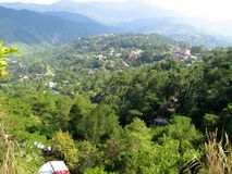 Сценарный взгляд от парка взгляда шахт, Baguio, Baguio, Филиппин Стоковое фото RF