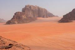 Сценарный взгляд пустыни рома вадей, Джордана Стоковое Фото