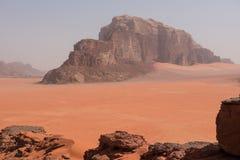 Сценарный взгляд пустыни рома вадей, Джордана Стоковые Изображения RF