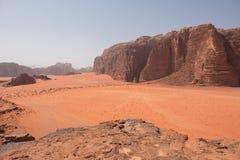 Сценарный взгляд пустыни рома вадей, Джордана Стоковая Фотография