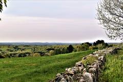 Сценарный взгляд убежища Oxbow национального Wildlfe принятого от Гарварда, Массачусетса, Соединенных Штатов Стоковая Фотография