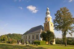 Сценарный взгляд церков Стоковое Изображение