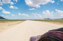 Сценарный взгляд ландшафта пустыни и горы после дождя Стоковые Изображения