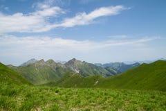 Сценарный взгляд в швейцарских Альпах Стоковые Изображения