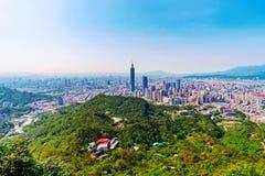 Сценарный взгляд города Тайбэя Стоковое фото RF