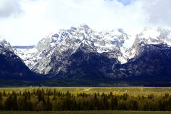 Сценарный взгляд грандиозного национального парка Teton в Джексоне, Вайоминге Стоковые Фотографии RF