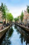 Сценарный взгляд каналов ` s Амстердама Стоковые Фото