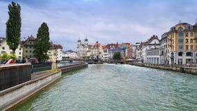 Сценарный взгляд Люцерна, Швейцарии Стоковые Фотографии RF