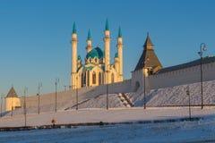Сценарный взгляд мечети Казани Кремля и Qol Sharif Стоковое Изображение RF