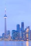 Сценарный взгляд на горизонте портового района города Торонто Стоковая Фотография RF