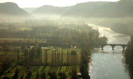 Сценарный взгляд долины Дордонь Стоковое Изображение RF
