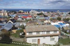 Сценарный взгляд пролива в аренах Punta, Чили арен и Magellan Punta стоковая фотография