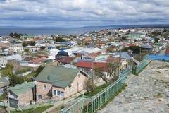 Сценарный взгляд пролива в аренах Punta, Чили арен и Magellan Punta стоковые фото
