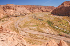 Сценарный взгляд пустыни Atacama Стоковое фото RF