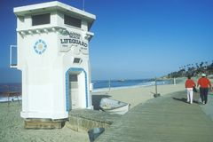 Сценарный взгляд пляжа Laguna, CA Стоковые Фотографии RF
