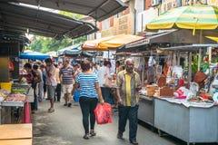 Сценарный взгляд рынка утра в Ampang, Малайзии Стоковые Фотографии RF