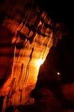 Сценарный взгляд света в пещере, Таиланде Стоковое фото RF