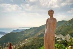 Сценарный взгляд среднеземноморской береговой линии Стоковые Фотографии RF