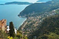 Сценарный взгляд среднеземноморской береговой линии Стоковые Фото