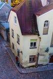 Сценарный взгляд старого городка в Таллине, Эстонии Стоковое фото RF
