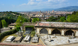 Сценарный взгляд Флоренса от San Miniato Стоковые Фото