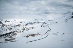 Сценарный взгляд художественной открытки известного места, горы Grossglockner с облаком & тумана, Австрии Стоковые Фотографии RF