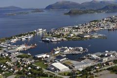 Сценарный взгляд Alesund, Норвегии Стоковое Изображение RF