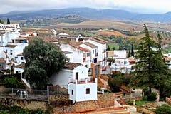 Сценарный взгляд Ronda Andalucia, Испания Стоковая Фотография RF